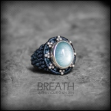 bague aigue marine argent 925 macrame aqua marina silver ring kaprisc creation 2014 (3)