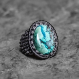 bague azurite macrame ring kaprisc 2014 (3)