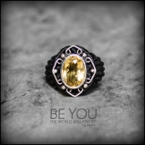 bague citrine cristal argent 925 macrame crystal quartz silver ring kaprisc creation 2014 (1)