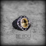 bague citrine cristal argent 925 macrame crystal quartz silver ring kaprisc creation 2014 (2)