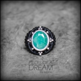 bague emeraude argent 925 macrame emerald silver ring kaprisc creation 2014 (1)