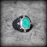 bague emeraude argent 925 macrame emerald silver ring kaprisc creation 2014 (3)