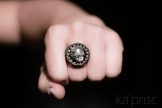 bague larvikite macrame ring (5)