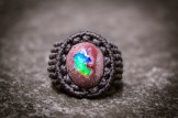 bague opale mexique macrame boulder opal ring kaprisc (1)