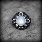 bague pierre lune argent 925 macrame silver moon stone ring kaprisc creation 2014 (1)
