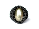 bague pyrite macrame ring (1)