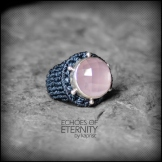 bague quartz rose argent 925 macrame silver ring kaprisc creation 2014 (2)