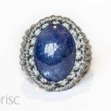bague tanzanite macrame ring (1)