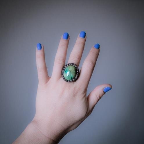 bague turquoise tibet macrame ring (5)