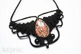 collier obsidienne macrame obsidian necklace (3)