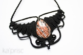 collier obsidienne macrame obsidian necklace (3)