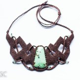 collier turquoise macrame necklace (1)
