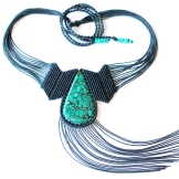 collier turquoise tibet macrame necklace (6)