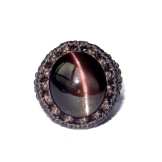 bague chrysoberyl oeil de chat macrame cat eye ring (1)