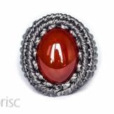bague cornaline macrame carnelian ring (6)