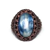 bague kyanite macrame ring (1)