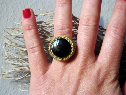 bague obsidienne doré gold macrame obsidian ring (29)