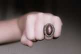 Bague pierre lune rose macrame pink moon stone ring (6)
