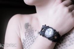 bracelet labradorite blanche pierre lune macrame white moon stone (5)