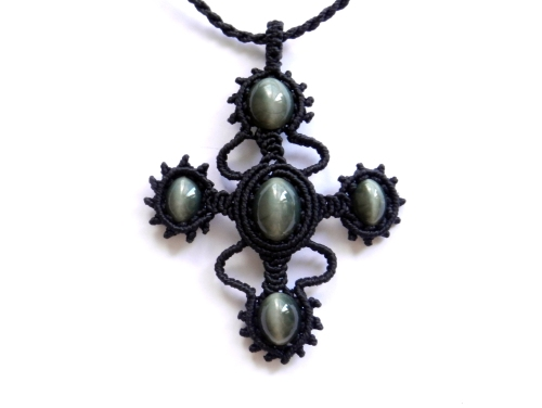 collier chrysoberyl macrame cat eye necklace (1)