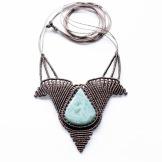 collier larimar macrame necklace (2)