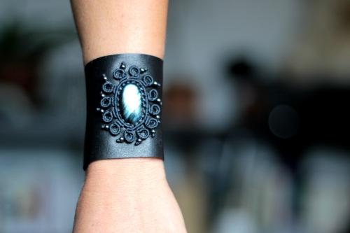 bracelet gothique cuir macrame labradorite leather gothic bracelet (34)