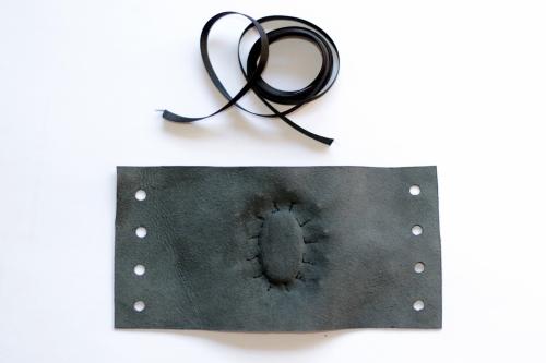 bracelet gothique cuir macrame labradorite leather gothic bracelet (4)