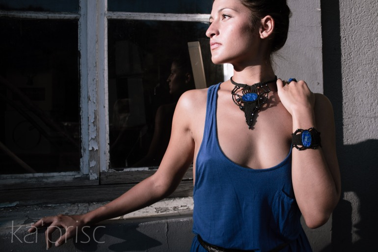 kaprisc macrame lapis lazuli bague bracelet collier photo shooting ring necklace sept 2013 (9)