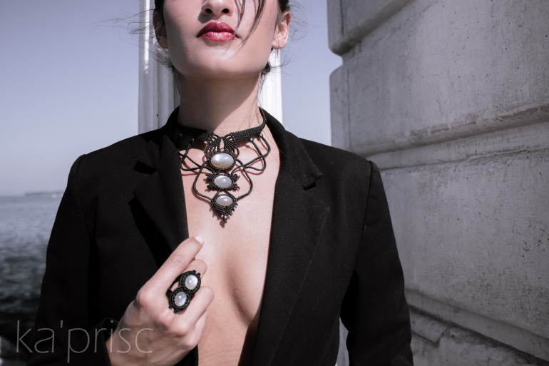 kaprisc macrame pierre lune indienne bague bracelet collier photo shooting ring necklace indian moonstone sept 2013 (5)