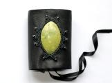 bracelet gothique cuir macrame serpentine hematite leather gothic bracelet (0)