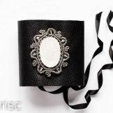manchette cuir agate druzy macrame leather cuff (1)