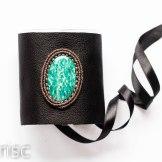 manchette cuir amazonite macrame leather cuff (1)