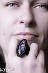 bague charoite macrame ring (8)