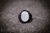 bague agate drusy blanche macrame drewsy agate ring kaprisc (1)