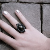 bague cat eye oeil chat selemonite macrame ring (5)