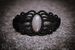 bracelet pierre lune indienne macrame indian moonstone sept 2013 (1)