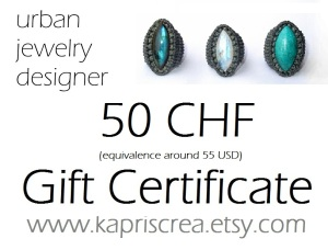 gift certificate etsy bon cadeau kaprisc 50