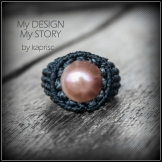bague perle macrame pearl ring kaprisc 2014 (1)