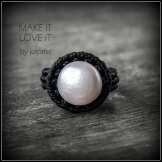 bague perle macrame pearl ring kaprisc 2014 (5)