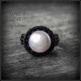 bague perle macrame pearl ring kaprisc 2014 (5)