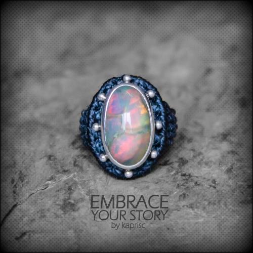 bague opale argent 925 macrame oapl silver ring kaprisc creation 2014 (5)