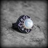 bague pierre lune argent 925 macrame silver moon stone ring kaprisc creation 2014 (3)